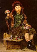 John George Brown Buy a Posy oil painting