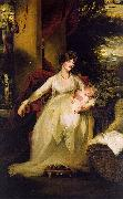 John Hoppner Lady Caroline Capel Holding her Daughter Harriet oil painting artist