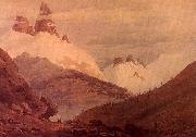 John Robert Cozens Between Chamonix and Martigny oil painting
