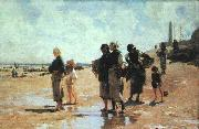 John Singer Sargent Oyster Gatherers of Cancale oil painting picture wholesale