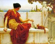 John William Godward The Tease oil painting picture wholesale