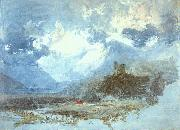 Joseph Mallord William Turner Dolbadern Castle oil painting picture wholesale