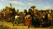 Jules Breton The Vintage at the Chateau Lagrange oil painting artist