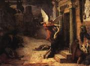 Jules Elie Delaunay The Plague in Rome oil painting