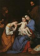 Jusepe de Ribera The Holy Family with Saints Anne Catherine of Alexandria oil painting picture wholesale
