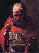 LA TOUR, Georges de Saint Jerome Reading sg oil painting