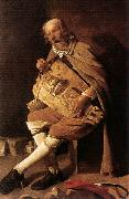 LA TOUR, Georges de The Hurdy-gurdy Player oil painting picture wholesale