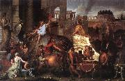 LE BRUN, Charles Entry of Alexander into Babylon h oil painting picture wholesale