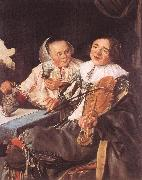 LEYSTER, Judith Carousing Couple oil painting