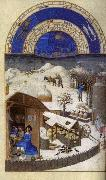 LIMBOURG brothers Les trs riches heures du Duc de Berry: Fevrier (February) sef oil painting