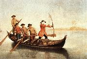 LONGHI, Pietro Duck Hunters on the Lagoon s oil painting