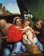 Lorenzo Lotto Virgin and Child with Saints Jerome and Anthony oil painting picture wholesale