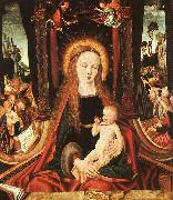 MASTER of the Aix-en-Chapel Altarpiece Madonna and Child sg oil painting