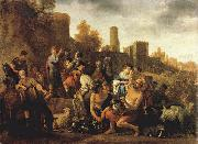 MOEYAERT, Claes Cornelisz. Moses Ordering the Slaughter of the Midianitic ag oil painting