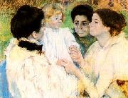 Mary Cassatt Women Admiring a Child oil painting picture wholesale