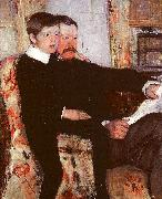 Mary Cassatt Alexander J Cassatt and his son Robert Kelso oil painting picture wholesale