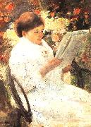 Mary Cassatt Woman Reading in a Garden oil painting picture wholesale