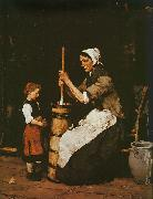 Mihaly Munkacsy Woman Churning oil painting picture wholesale