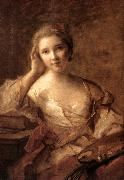 NATTIER, Jean-Marc Portrait of a Young Woman Painter sg oil painting picture wholesale