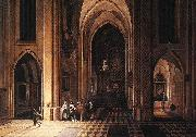NEEFFS, Pieter the Elder Interior of a Church ag oil painting