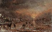 NEER, Aert van der Sports on a Frozen River g oil painting picture wholesale