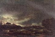 NEER, Aert van der Small Town at Dusk ag oil painting picture wholesale
