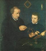 NEUFCHATEL Nicolas Portrait of Johannes Neudorfer and his Son oil painting picture wholesale
