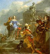 Nicholaes Berchem A Moor Presenting a Parrot to a Lady oil painting picture wholesale