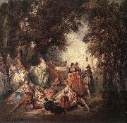 Nicolas Lancret Company in Park oil painting picture wholesale