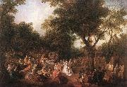 Nicolas Lancret Fete in a Wood oil painting picture wholesale