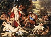Nicolas Poussin Midas and Bacchus oil painting artist