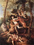 Nicolas Poussin Pan and Syrinx oil painting picture wholesale