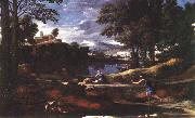 Nicolas Poussin Landscape with a Man Killed by a Snake oil painting picture wholesale