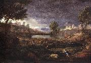 Nicolas Poussin Strormy Landscape Pyramus and Thisbe oil painting picture wholesale