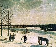 Nikifor Krylov Russian Winter oil painting picture wholesale