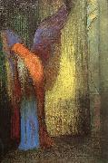 Odilon Redon Winged Old Man with a Long White Beard oil painting artist