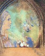 Odilon Redon Profile in an Arch oil painting picture wholesale