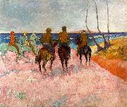 Paul Gauguin Riders on the Beach oil painting picture wholesale