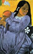 Paul Gauguin Woman with Mango oil painting picture wholesale