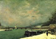 Paul Gauguin The Seine at the Pont d'Iena oil painting picture wholesale