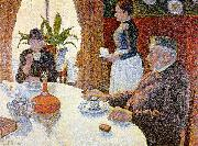 Paul Signac The Dining Room oil painting