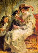 Helene Fourment and her Children, Claire-Jeanne and Francois