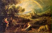 Peter Paul Rubens Landscape with a Rainbow oil painting artist