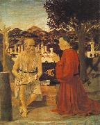 Piero della Francesca Saint Jerome and a Donor oil painting picture wholesale