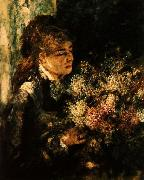 Pierre Renoir Woman with Lilacs oil painting picture wholesale