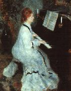 Pierre Renoir Lady at Piano oil painting picture wholesale