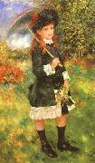Pierre Renoir Young Girl with a Parasol oil painting picture wholesale