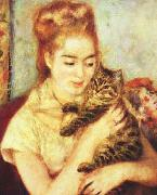Pierre Renoir Woman with a Cat oil painting picture wholesale