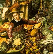 Pieter Aertsen Market Woman  with Vegetable Stall oil painting picture wholesale