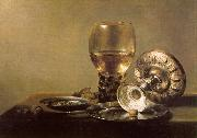 Pieter Claesz Still Life with Wine Glass and Silver Bowl China oil painting reproduction